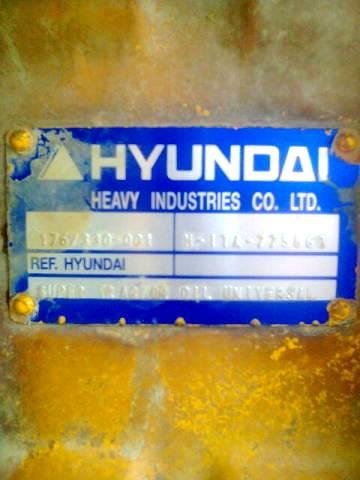 металлическая бирка от моста на экскаваторе Hyundai