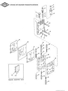 Блок клапанов на трансмиссии Сандвик с клапанами, соленоидами, прокладками блока