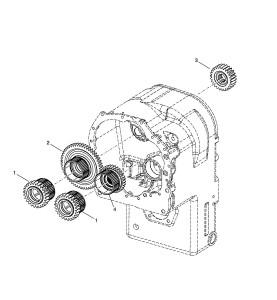 Шестерни пакетов передач в трансмиссии
