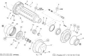 Планетарный редуктор моста на примере подземной машины атлас копко