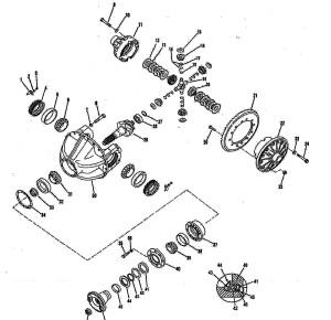 рисунок из каталога запчастей для дифференциала машины Сандвик
