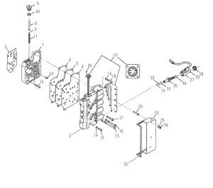 рисунок из каталога с изображением блока клапанов для АКПП Spicer