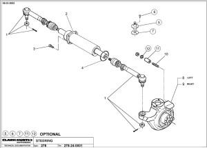 Рулевое управление Дусан, рулевые тяги, цилиндр, поворотный кулак Doosan