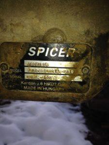 Шильды трансмиссий и мостов Spicer